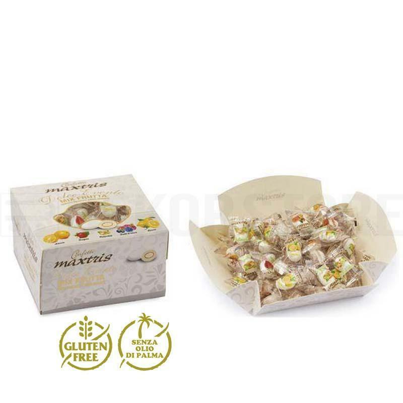 maxtris maxtris dolce evento mix frutta bianco vassoio - confetti  (500gr)