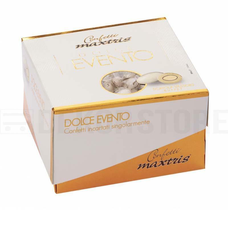 maxtris maxtris dolce matrimonio - vassoio confetti  bianchi (500gr)