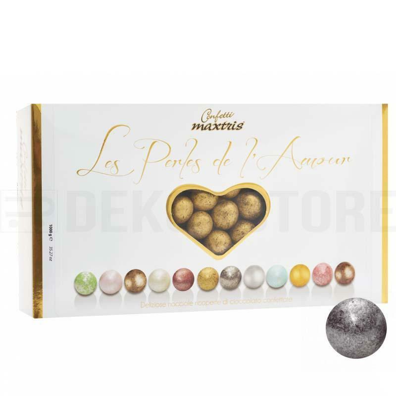 maxtris confetti maxtris les perles de l'amour hiver - argento antico 1 kg