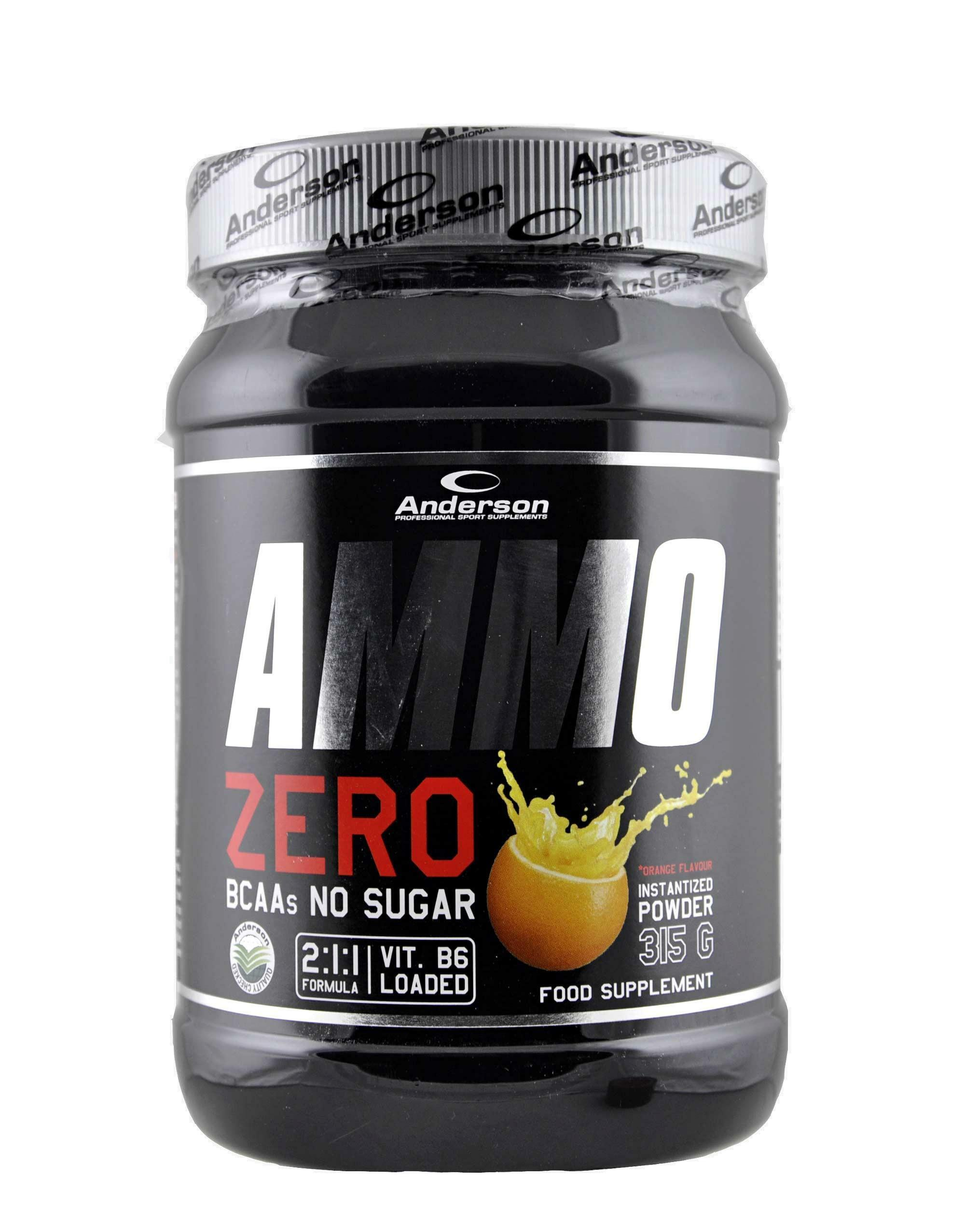 anderson research ammo zero - integratore degli aminoacidi ramificati in polvere gusto arancia e zero zuccheri  - 315g