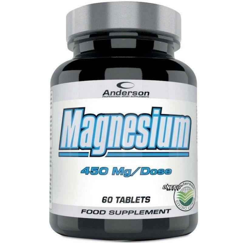 anderson research magnesium - integratore di magnesio - 60 capsule