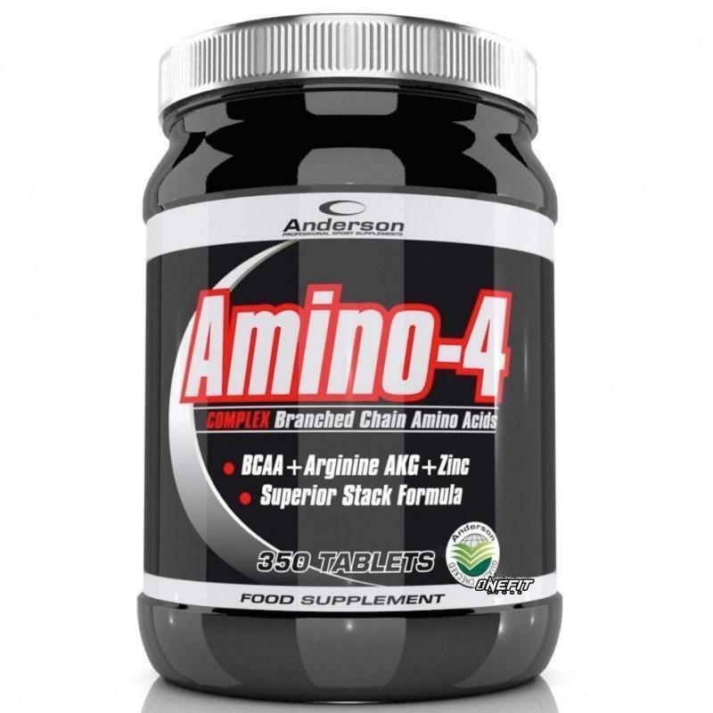 anderson research amino-4 complex - integratore di aminoacidi - 350 compresse