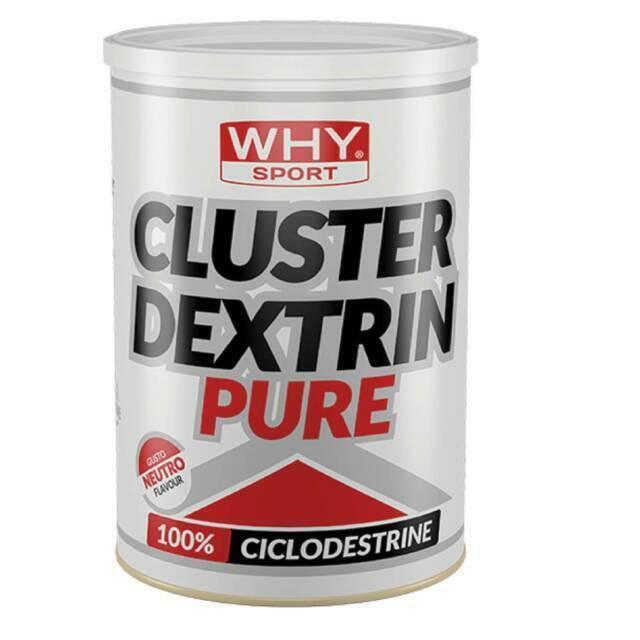 biovita group why sport -  cluster dextrin pure - 100% destrine cicliche altamente ramificate gusto neutro - 500g