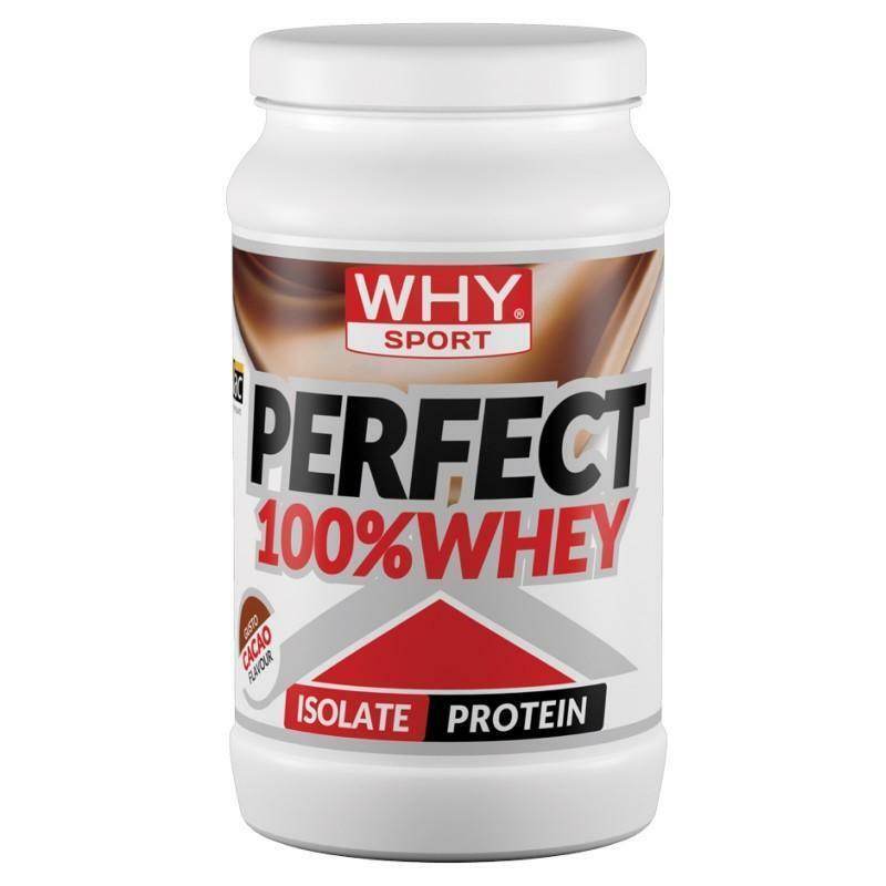 biovita group why sport - perfect whey - proteine isolate  del siero del latte in polvere gusto cacao - 450g