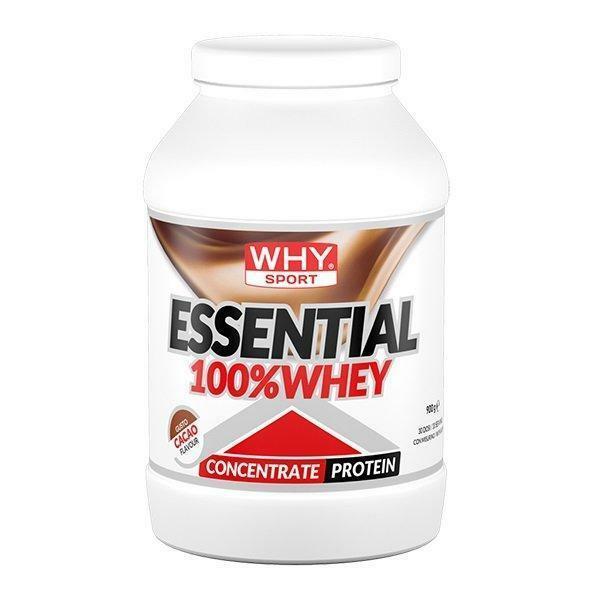 biovita group essential 100% whey - scadenza 10-21 - proteine concentrate del siero del latte in polvere gusto cacao - 900g