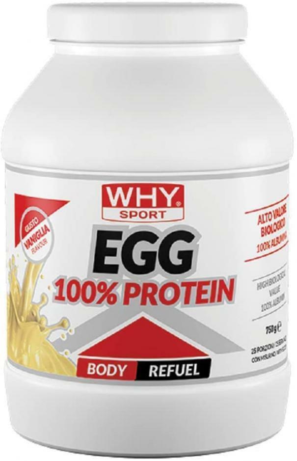 biovita group why sport - egg 100% protein - proteine dell'uovo in polvere gusto vaniglia - 750g