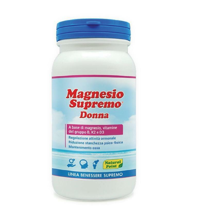 natural point natural point - magnesio supremo donna a base di magnesio, vitamine del gruppo b, vitamina k2 e d3 - 150g