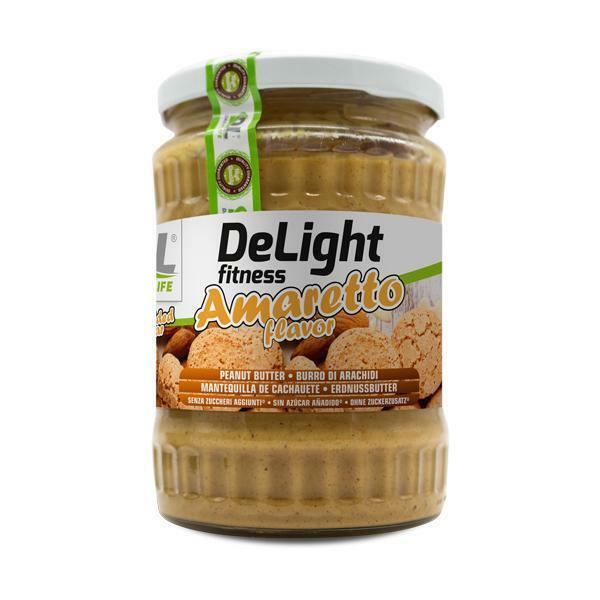 daily life daily life – delight fitness amaretto - burro di arachidi senza zuccheri aggiunti gusto amaretto - 510g