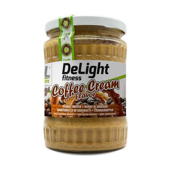 daily life daily life – delight fitness coffee cream - burro di arachidi senza zuccheri aggiunti gusto caffe - 510g