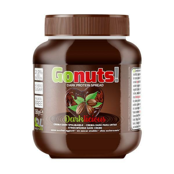 daily life daily life - gonuts! darklicious - crema spalmabile al cioccolato fondente - 350g
