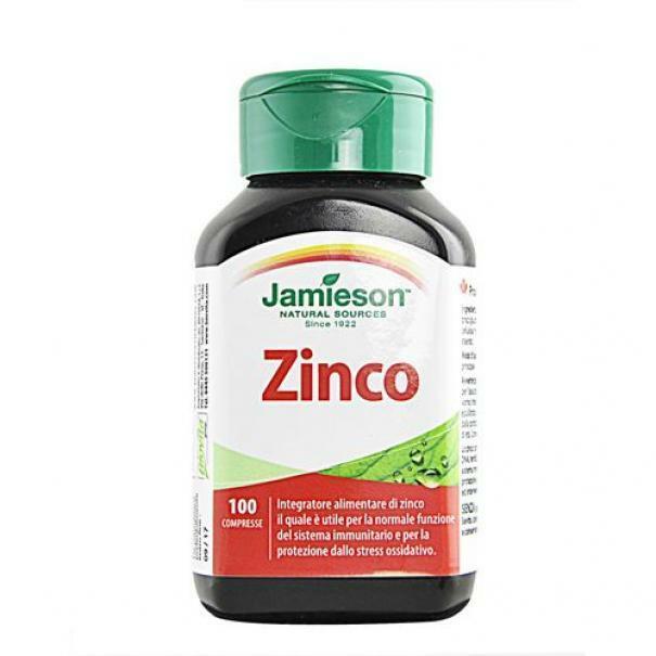 biovita group jamieson - zinco - inegratore alimentare di zinco - 100 cpr