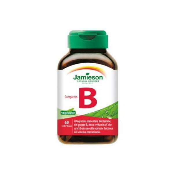 biovita group jamieson - complesso b -  integratore alimentare di vitamine del gruppo b, zinco, vit c - 60 capsule