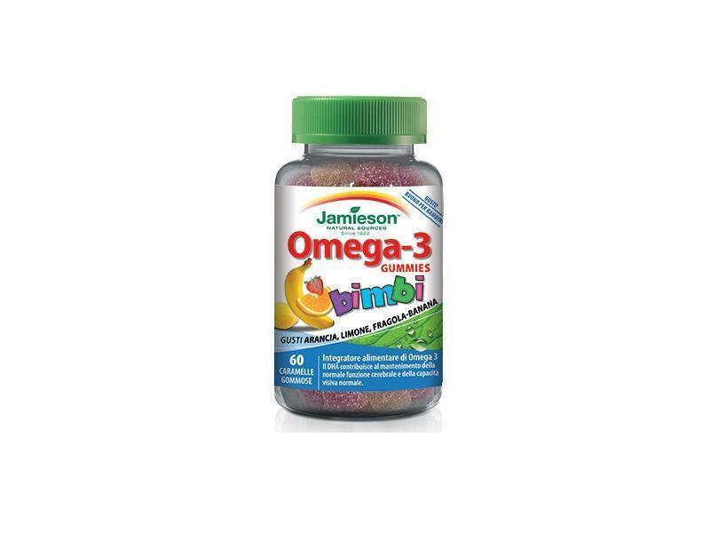 biovita group jamieson - omega 3 gummies bimbi scadenza 05/21 - integratore alimentare di omega 3 ( epa e dha)  gusto frutta - 60 caramelle gommose