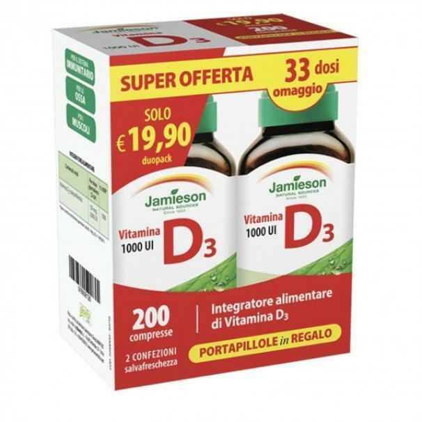 biovita group jamieson - vitamina d3 1000 ul duo pack - integratore alimentare vitamina - 200 compresse