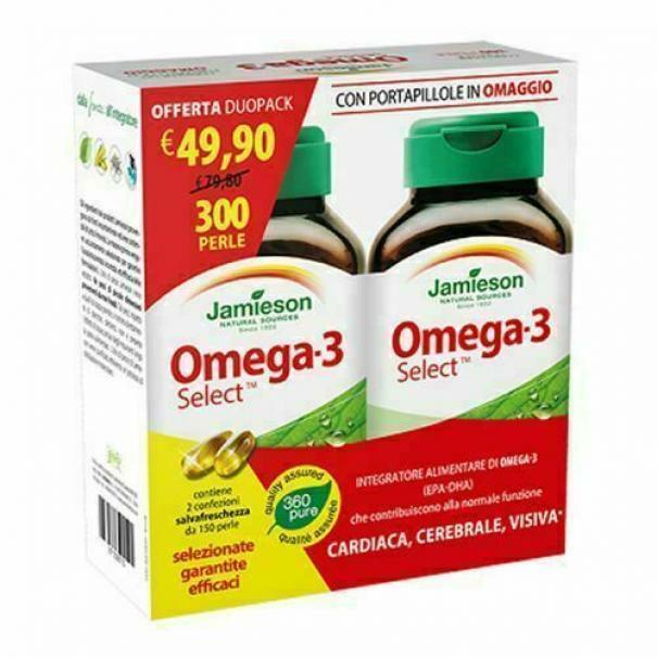 biovita group jamieson - omega 3 select duo pack - integratore alimentare di omega 3 - 300 perle