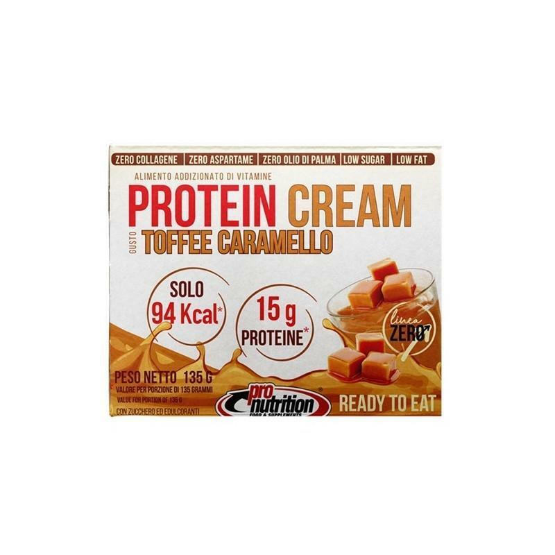 pro nutrition pro nutrition - protein cream budino proteico monoporzione gusto toffee caramello - 135g