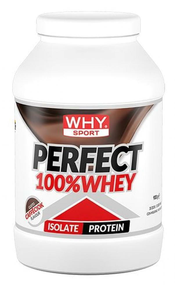 biovita group why sport -  perfect 100% whey - proteine isolate del siero del latte gusto caffe'ciok - 900g