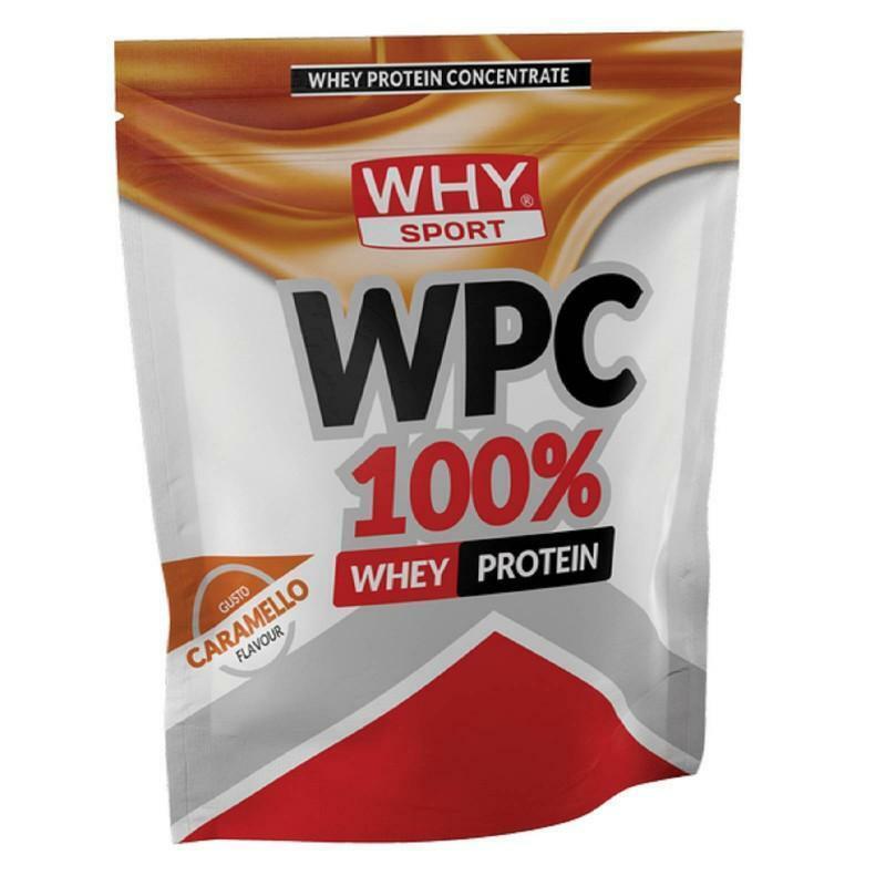 biovita group why sport -  wpc 100% whey -  proteine del siero del latte concentrate  gusto caramello - 1kg