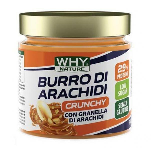 biovita group why nature - burro di arachidi crunchy - crema spalmabile 100% arachidi - 350g