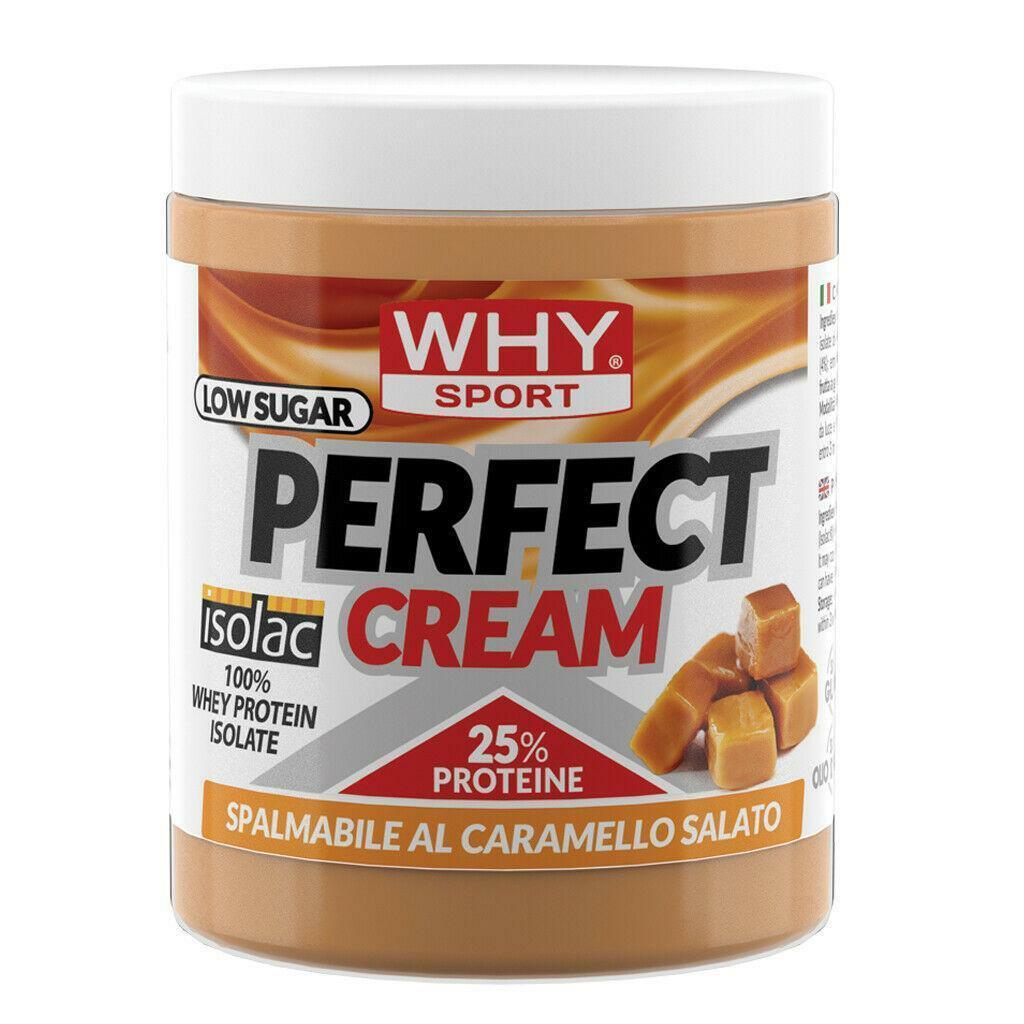 biovita group why sport - perfect cream - crema spalmabile proteica gusto caramello salato - 300g