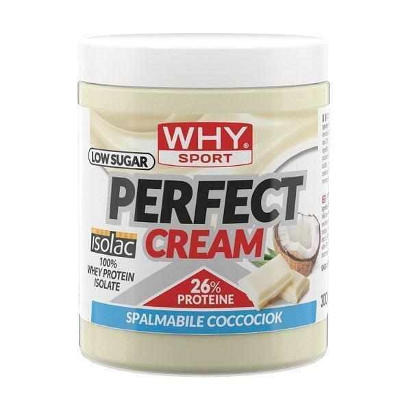 biovita group why sport - perfect cream - crema spalmabile proteica gusto biancociok - 300g