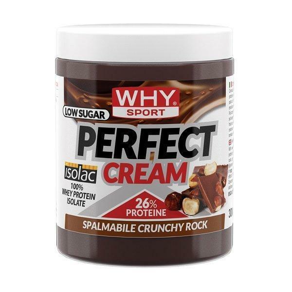 biovita group why sport - perfect cream - crema spalmabile proteica gusto crunchy rock- 300g
