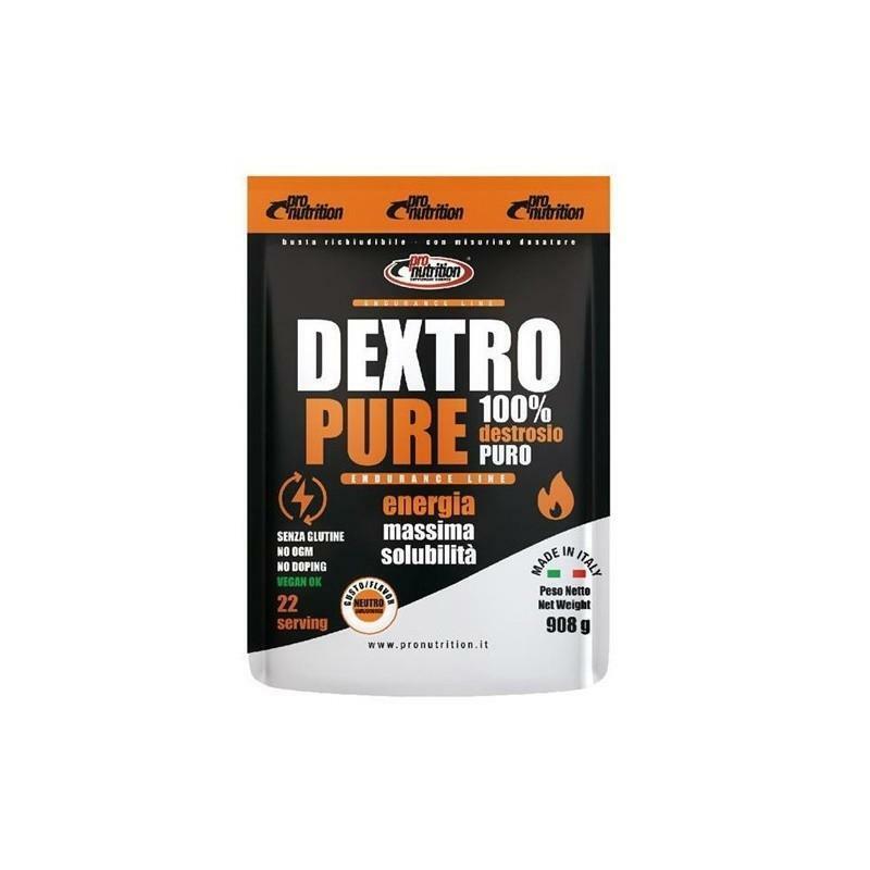 pro nutrition pro nutrition - dextro pure - integratore energetico destrosio puro -  908g