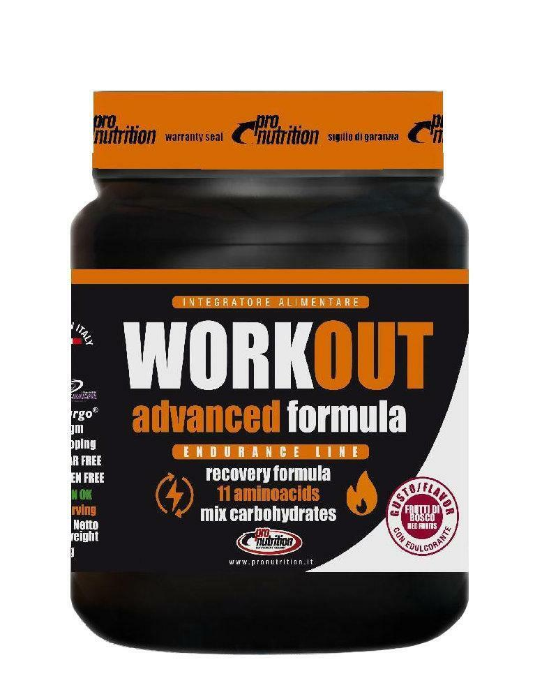 pro nutrition pro nutrition - workout advanced - integratore energetico in polvere gusto limone - 645g