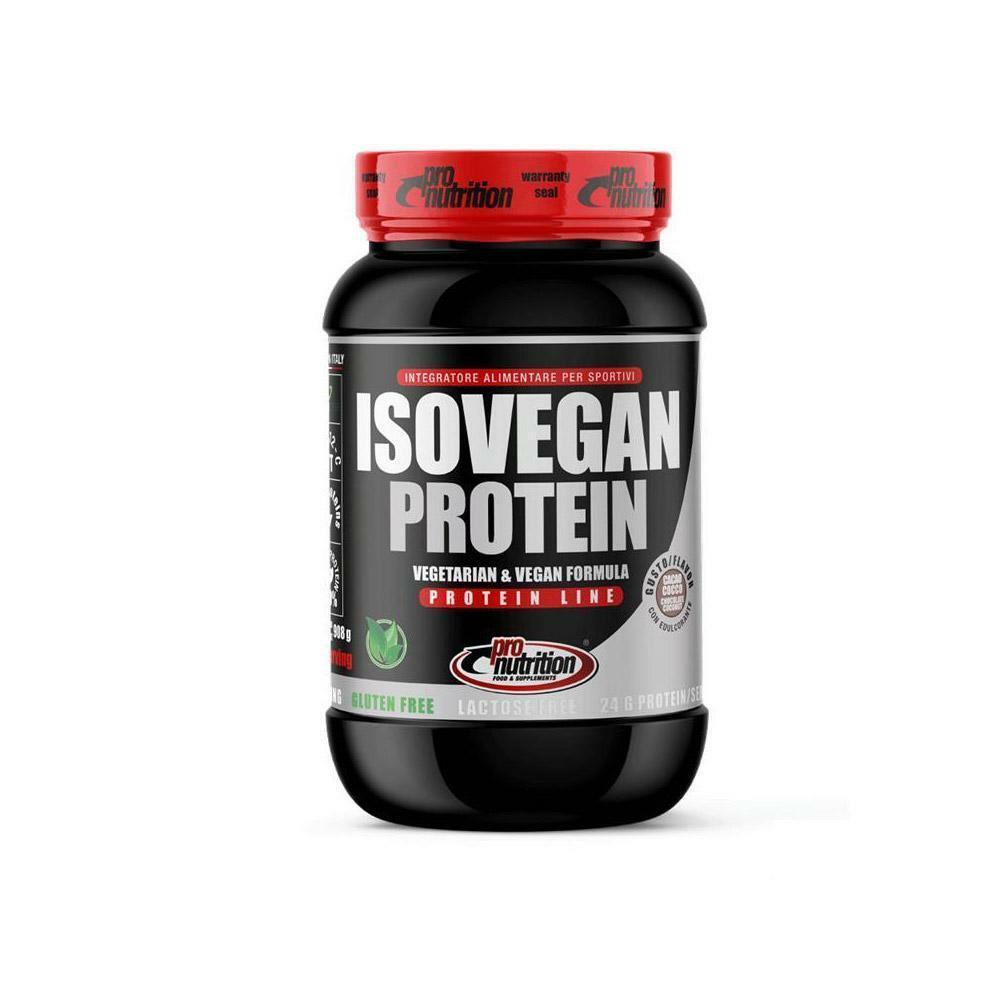 pro nutrition pro nutrition - isovegan sport protein - proteine isolate vegetali gusto cioccolato bianco e nocciola - 908g