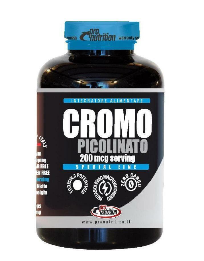 pro nutrition pro nutrition - cromo picolinato - integratore a base di cromo - 100 capsule