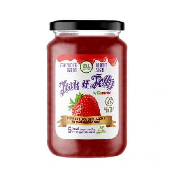 daily life daily life - jam n jelly by gonuts! - marmellata senza zuccheri aggiunti e gluten free gusto fragola - 280g