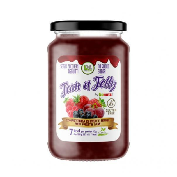 daily life daily life - jam n jelly by gonuts! - marmellata senza zuccheri aggiunti e gluten free gusto frutti rossi - 280g