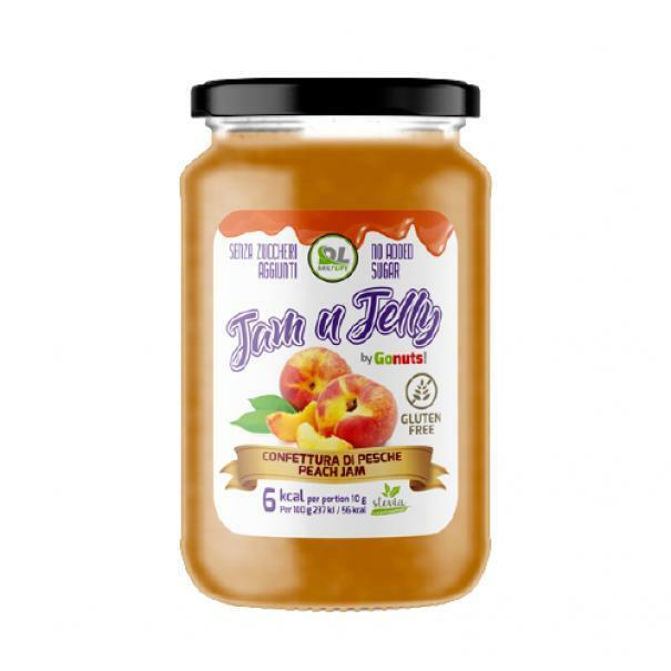 daily life daily life - jam n jelly by gonuts! - marmellata senza zuccheri aggiunti e gluten free gusto pesca - 280g
