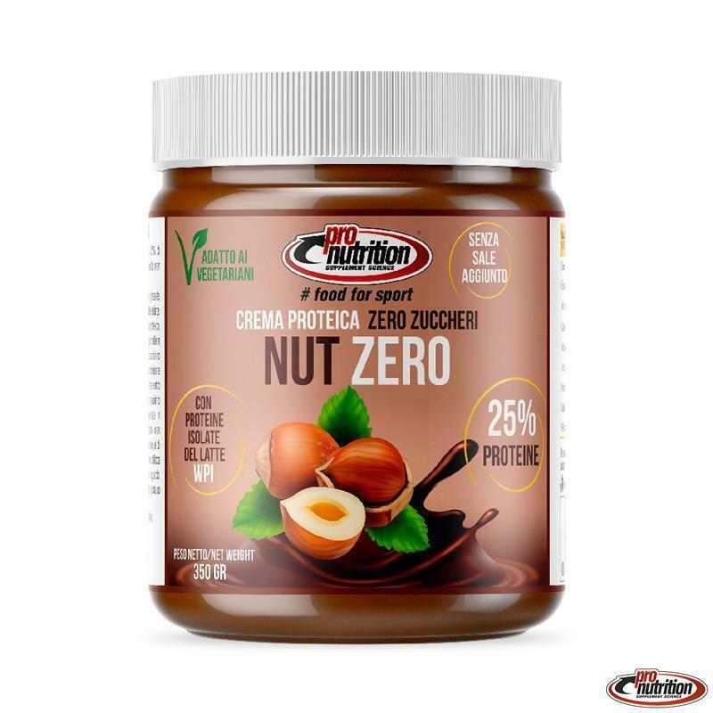 pro nutrition pro nutrition - nutzero - crema spalmabile 25% di proteine e zero zuccheri - 350g