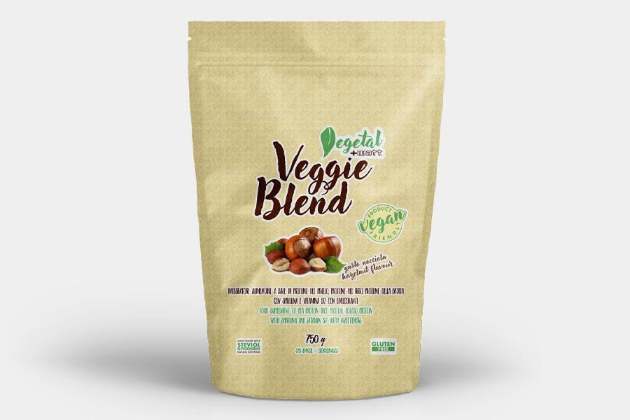 +watt nutrition +watt - veggie blend - proteine blend vegetali gusto nocciola - 750g