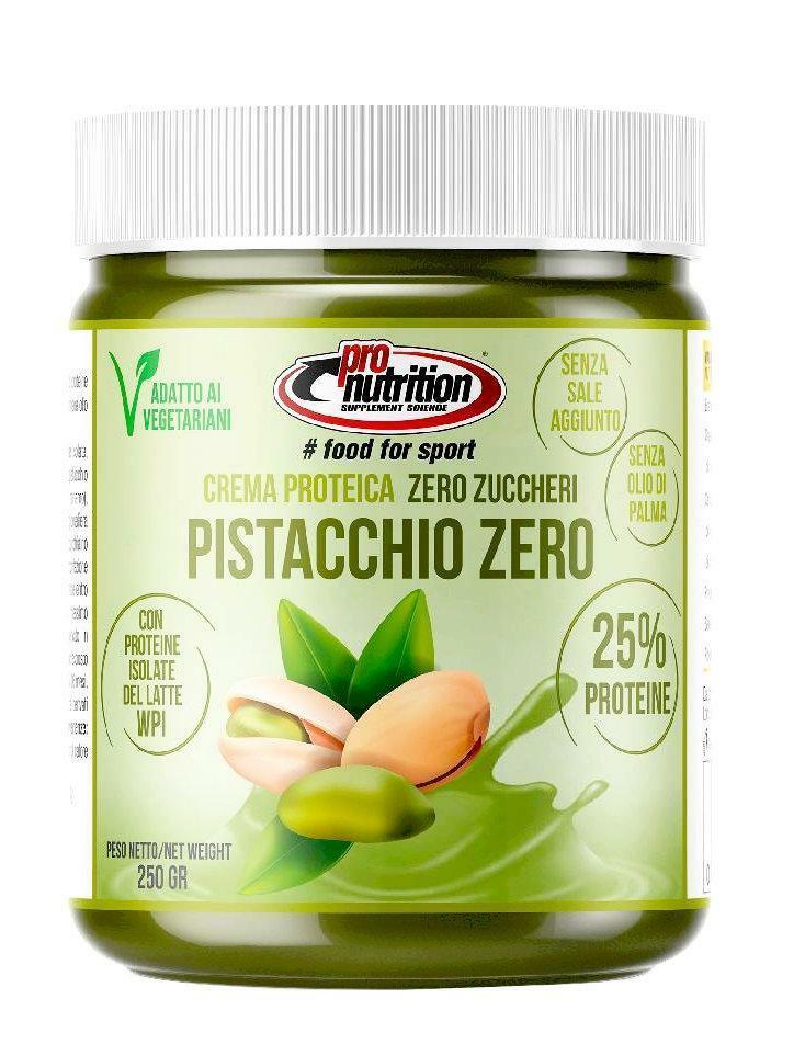 pro nutrition crema spalmabile gusto pistacchio zero - 250g - scadenza 30 settembre 2021