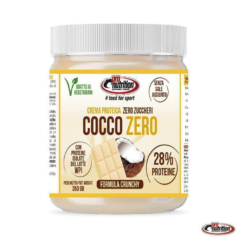 pro nutrition pro nutrition - crema spalmabile gusto cocco zero crunchy- 350g