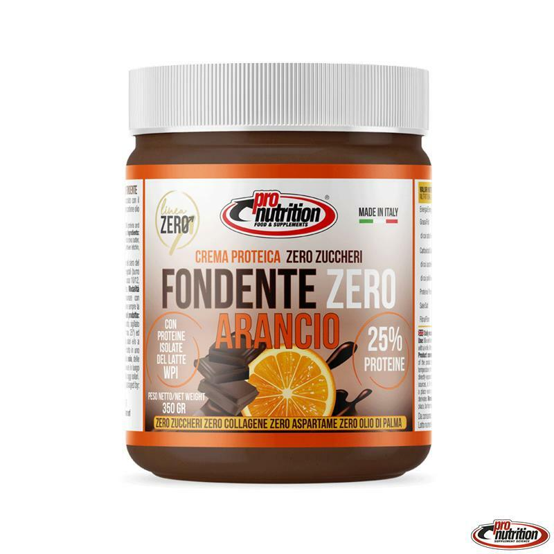pro nutrition pro nutrition - crema spalmabile gusto fondente zero arancio - 350g