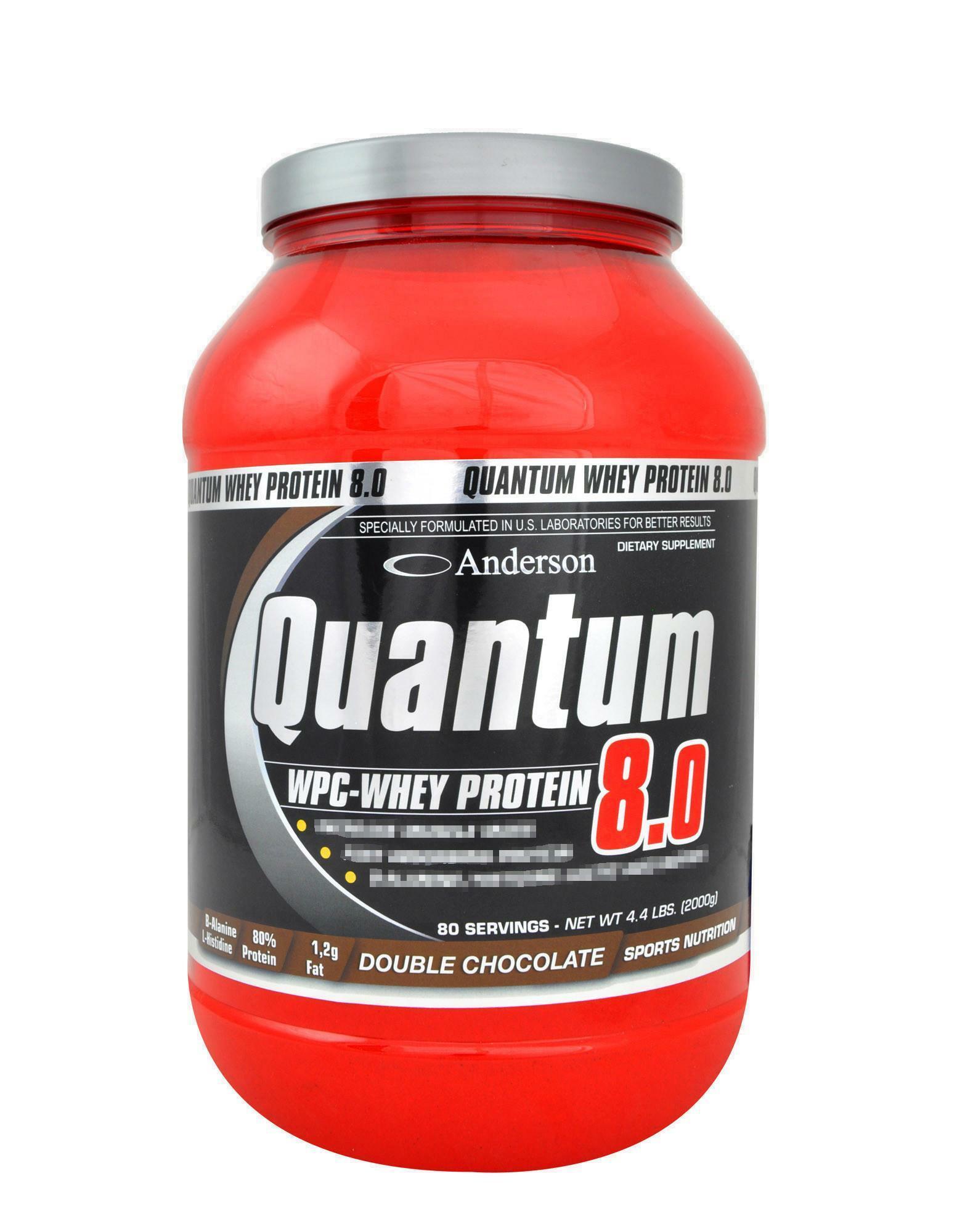 anderson research quantum 8.0 - integratore di  proteine del siero del latte concentrate gusto american cookies - 2kg