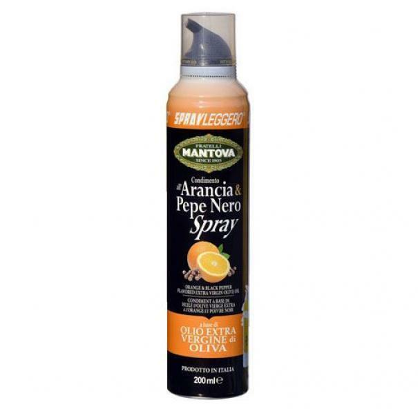 spray leggero spray leggero - arancia e pepe nero spray in olio extra vergine di oliva - 200 ml