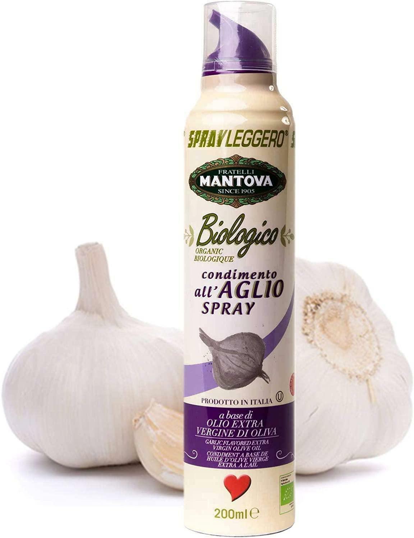 spray leggero spray leggero - aglio spray in olio biologico extravergine di oliva - 200ml