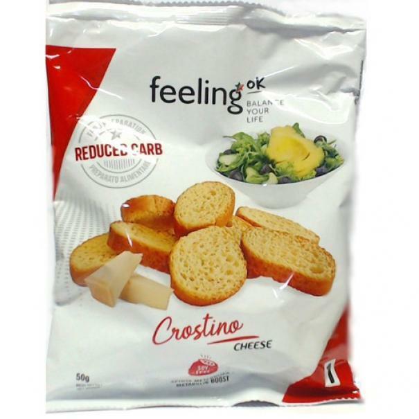 feeling ok feeling ok - linea 1 start - crostino gusto cheese - 50 g