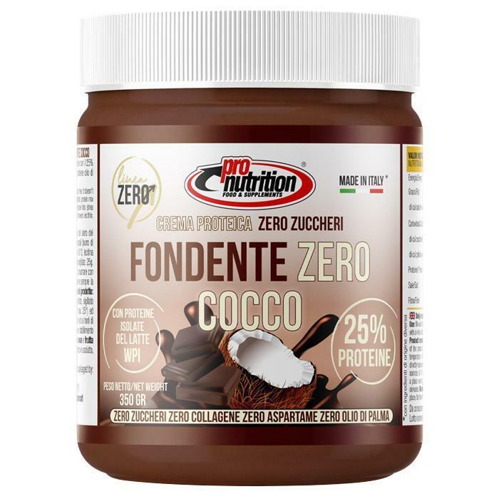 pro nutrition pro nutrition - crema spalmabile gusto fondente zero cocco - 350 g