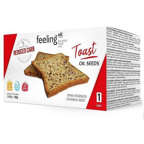 feeling ok feeling ok - toast oil seeds - 4x 40gr = 160gr