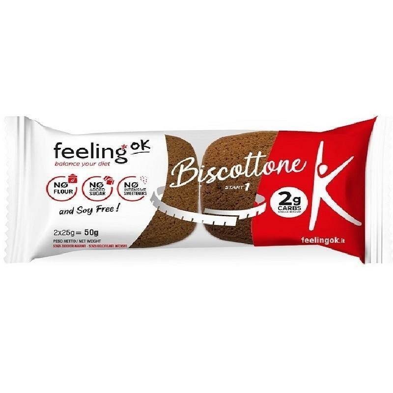 feeling ok feeling ok - biscottone gusto cocoa 2 g carbs - 2x25 g = 50 g