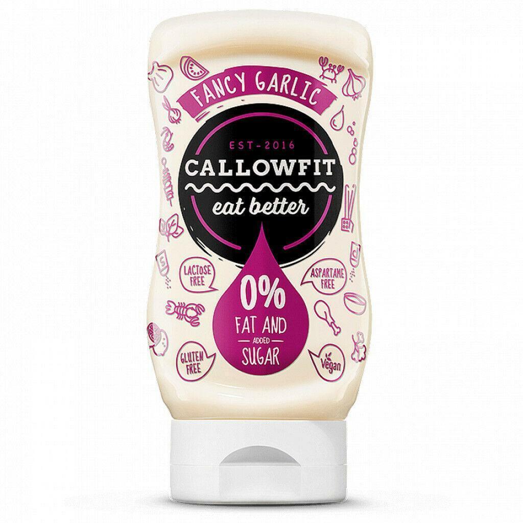 callowfit callowfit - salsa zero gusto  fancy garlic - 300 ml