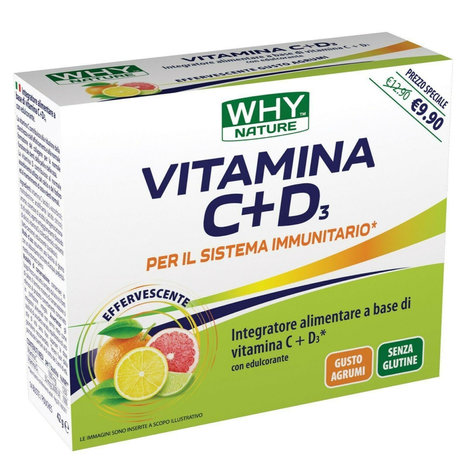why nature vitamina c+d3 - 14 bustine