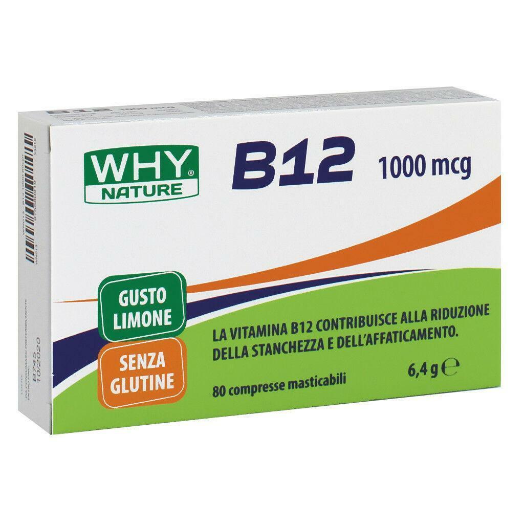 why nature vitamina b12 da 1000 mcg - 80 capsule masticabili