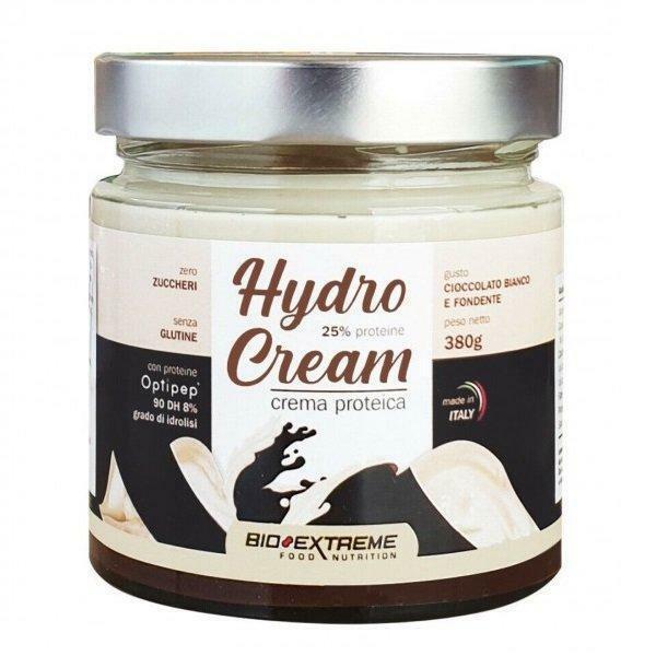 bio extreme bio extreme -  hydro cream crema proteica gusto cioccolato bianco e fondente - 380g