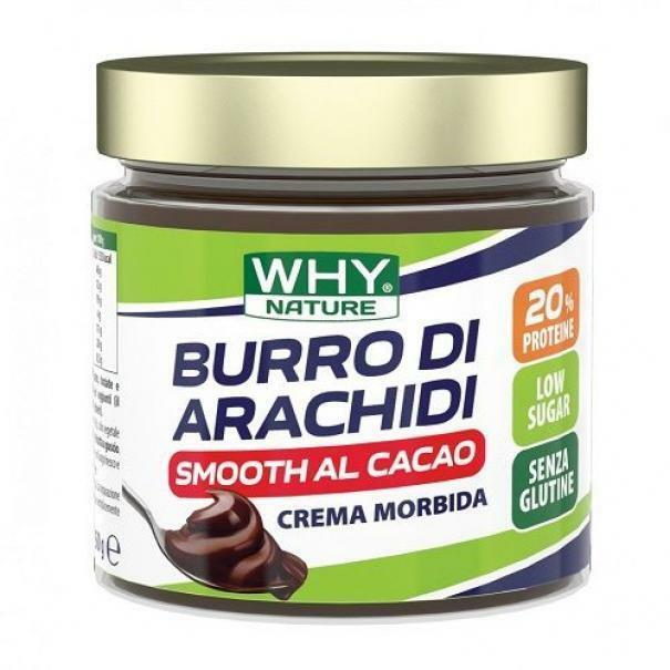 biovita group why nature - burro di arachidi smooth al cacao - crema spalmabile 100% arachidi - 350g